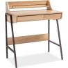 B168 77 Deman oak narrow desk with drawers Signal