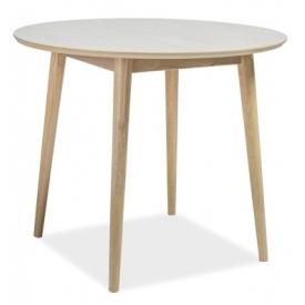 Stylowy Stół okrągły skandynawski Nelson 90 Dąb Signal do jadalni, kuchni i salonu.