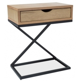 Liz I 50x30 oak&black bedside table with drawer Signal