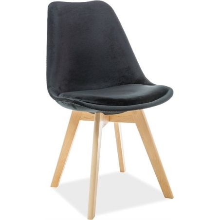 Dior Velvet black velet chair with wooden legs Signal