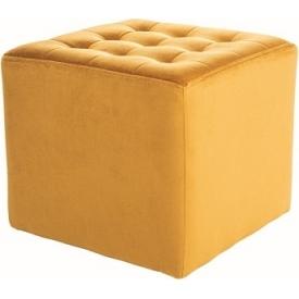Designerskie Krzesło drewniane tapicerowane Nelson Signal do kuchni. Kolor szary, żółty, stelaż/podstawa drewniana. Styl