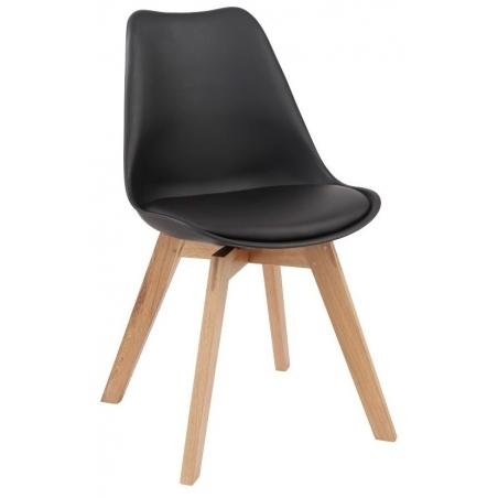 Kris black scandinavian cushion chair with wooden legs Signal