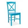 Stylowe Krzesło drewniane CD56 Wooden Niebieskie Signal do jadalni.