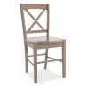 Designerskie Krzesło drewniane CD56 Wooden Signal do kuchni. Kolor biały