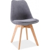 Dior dark grey upholstered chair with wooden legs Signal