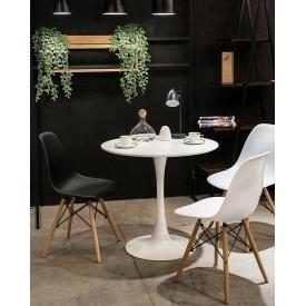 Stylowy Stół kwadratowy Mango Alu 72 Siesta do kuchni. Kolor biały, beżowy, szary, pomarańczowy, stelaż/podstawa metalowa. Styl