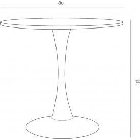 Stylowy Stół kwadratowy Mango 72 Siesta do kuchni. Kolor biały, beżowy, szary, pomarańczowy, stelaż/podstawa metalowa. Styl