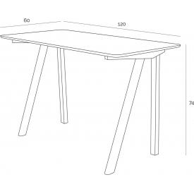 Stół okrągły Ice 60 Siesta do jadalni. Kolor biały, czarny, szary, stelaż/podstawa z tworzywa Styl nowoczesny.