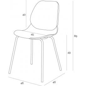 Stylowy Stół kwadratowy Ice 60 Siesta do kuchni. Kolor biały, czarny, srebrny, stelaż/podstawa z tworzywa. Styl nowoczesny.