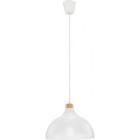 Stylowa Lampa wisząca skandynawska CAP 33 TK Lighting do salonu. Kolor biały