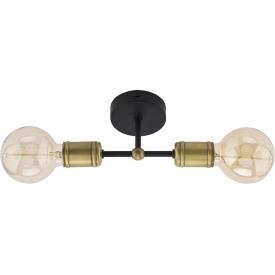 Mosiężny plafon sufitowy RETRO II TK Lighting do sypialni. Kolor: czarny w cenie 109