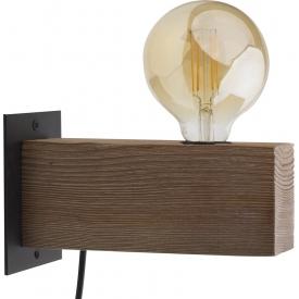 Stylowy Stół prostokątny Holz 160 Maduu Studio do jadalni. Kolor dąb, stelaż/podstawa metalowa. Styl industrialny.