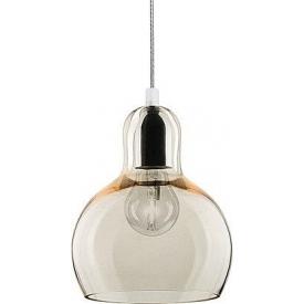 Podwójna, szklana Lampa sufitowa Monaco w stylu industrialnym