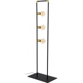 Stylowa Szklana lampa sufitowa potrójna POBO III TK Lighting do salonu. Kolor dymiony, Styl industrialny.