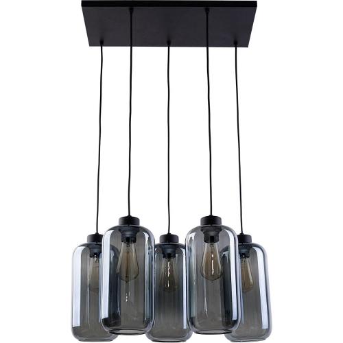 Plafon druciany czarny ALANO III TK Lighting