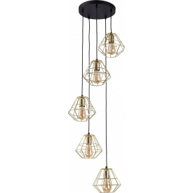 Stylowa Lampa biurkowa Estrella TK Lighting na biurko. Kolor mosiądz, Styl industrialny.
