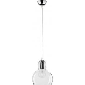 Szklana lampa wisząca AMBER 28 TK Lighting do salonu. Kolor czarny, Kształt kulisty i półkulisty, Styl industrialny.