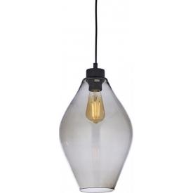 Duża, szklana LAMPA WISZĄCA GLOBO TRANSPARENT w kształcie kuli
