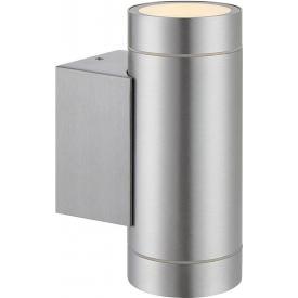 Nowoczesny Kinkiet zewnętrzny PIPE II Aluminium Markslojd na dom i taras.