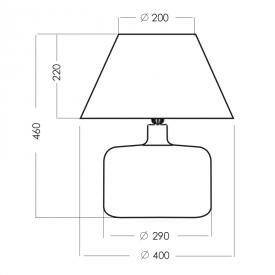 Industrialna Betonowa lampa wisząca QUALLE Gypsum 10 TK Lighting do salonu. Kolor: szary w cenie 85,00 PLN.