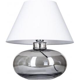 Szklana lampa wisząca Manhattan Chic IV Amber 13 do salonu. Kolor biały, czarny, Kształt tuba i walec, Styl industrialny.