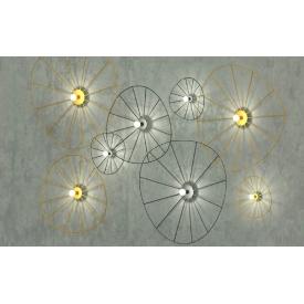 Designerska Lampa stołowa Faun 18 Brilliant do sypialni. Kolor biały, czarny, Styl nowoczesny.