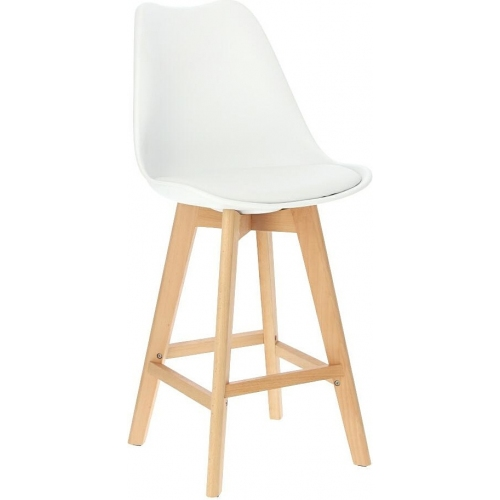 Norden Wood Low 64 white bar chair...