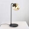Stylowa Lampa stołowa szklana Astrifero Czarno-Bursztnowa Step Into Design do sypialni.