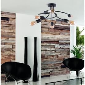 Stylowy Reflektor sufitowy Tori 19 ZumaLine do salonu. Kolor czarny, biały. Styl industrialny.