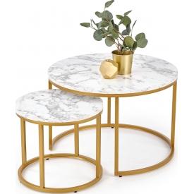 Designerski Okrągły stolik dziecięcy Kiara 47 do salonu. Kolor biały, szary, grafitowy, dąb, stelaż/podstawa drewniana.