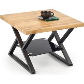 Designerski Okrągły stolik dziecięcy Meadow 47 do salonu. Kolor biały, szary, grafitowy, dąb, stelaż/podstawa drewniana.