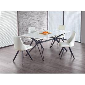 Designerski Prostokątny stolik dziecięcy Kiara 47 do salonu. Kolor biały, szary, grafitowy, dąb, stelaż/podstawa drewniana.