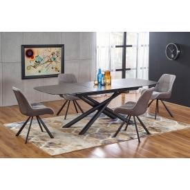 Designerski Prostokątny stolik dziecięcy Meadow 41 do salonu. Kolor biały, szary, grafitowy, dąb, stelaż/podstawa drewniana.