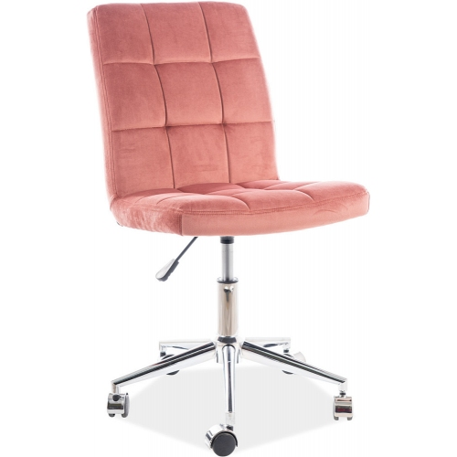 Q020 pink quilted office chair Signal