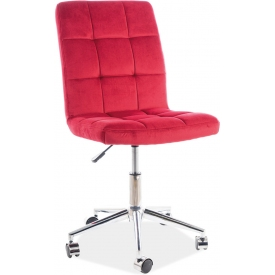 Q020 dark red quilted office chair Signal