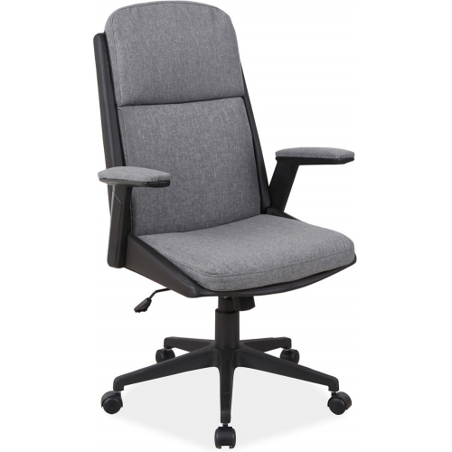 Q333 grey&black upholstered office armchair Signal