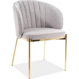Wygodne Krzesło na złotych nogach Prado Szary/Złoty Signal do salonu, kuchni i jadalni.