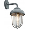 Duero concrete grey outdoor wall lamp Trio