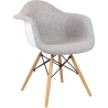 DAW Tap II grey upholstered chair with armrests
