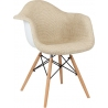 DAW Tap II beige upholstered chair with armrests