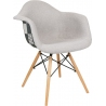 Daw Tap III grey upholstered chair with armrests