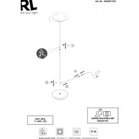 Żarówka ozdobna Filament Edison LED Markslojd gwint e27. Styl industrialny.
