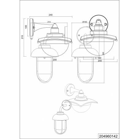 Donez antharcite&white outdoor wall lamp Trio