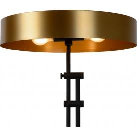 Designerski Okrągły stolik kawowy Tre 90 Nordifra do salonu. Kolor dąb, marmur, stelaż/podstawa metalowa.