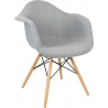 DAW Tap IV grey upholstered chair with armrests