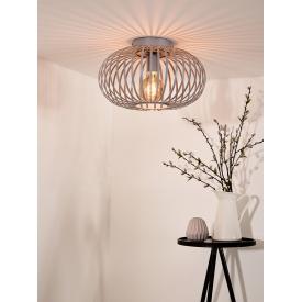 Designerski Fotel pikowany Castello Signal do salonu. Kolor szary, Styl nowoczesny.