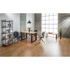Designerski Okrągły stolik kawowy Bianka Signal do salonu. Kolor dąb, orzech, stelaż/podstawa drewniana.