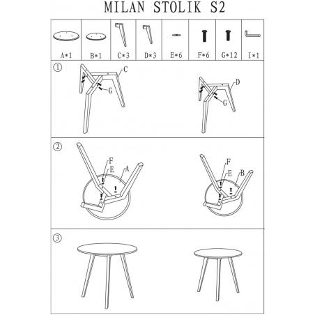 Milan S2 white set of scandinavian coffee tables Signal