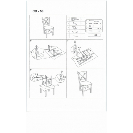Stylowe Krzesło drewniane CD56 Wooden Białe Signal do jadalni.
