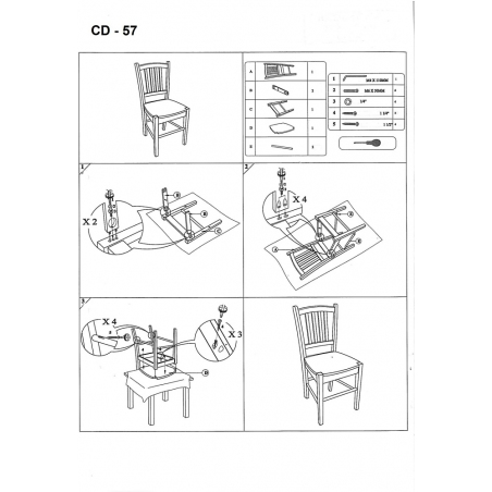 CD57 Wooden white wooden chair Signal